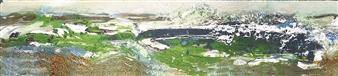 Frances Hatch - Storm Desmond, Charmouth, Dorset Acrylic & Mixed Media on Wood, Mixed Media