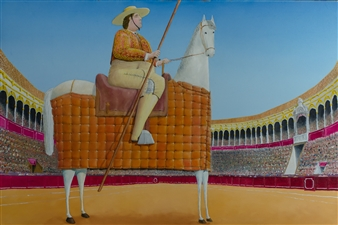 Jorge Garcia-Sainz - El Picador Oil on Canvas, Paintings