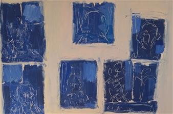 Philippe Thélin - The Deads Acrylic on Canvas, Paintings