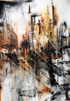 Dana Ingesson - Lights of the Night Watercolor on Paper, Paintings