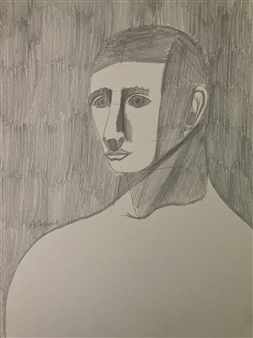 Aaron Cristofaro - Portrait Drawing 93 Graphite on Paper, Drawings