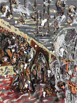 Satoco Yamamoto - Intersection of Life Acrylic on Fiberboard, Paintings