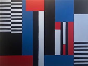 Roberta Caviglia - Playful Geometry #8 Acrylic on Canvas, Paintings