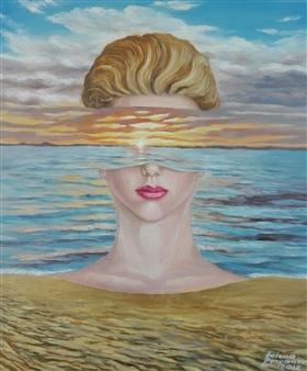 Helena Zyryanova - Athena Oil on Canvas, Paintings