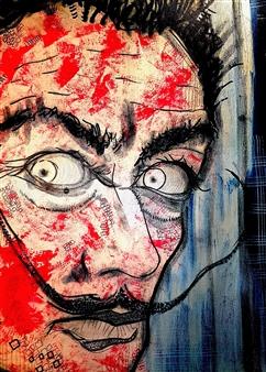 Franck Sastre - Salvador Dalí Mixed Media on Canvas, Mixed Media