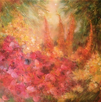 Caroline Degroiselle - Radiance of Flowers, Radiance of Sunny Laughter Acrylic on Canvas, Paintings