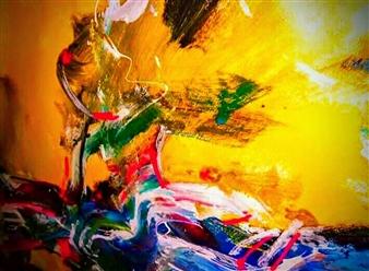 Babis (Bujar) Arizi - Untitled 1 Oil on Canvas, Paintings