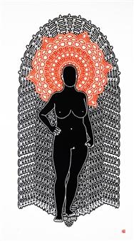 Linda Behar - Retablos II Woodblock Print, Prints