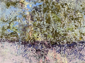 Courtney Muller - Folger's Marsh: Just Before the Dawn Mixed Media on Wood, Mixed Media