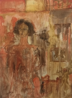 Salwa Almoayyed - The Lady Acrylic on Canvas, Paintings