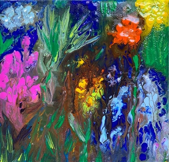 Jodi DeCrenza - Morning Surprise Acrylic on Canvas, Paintings