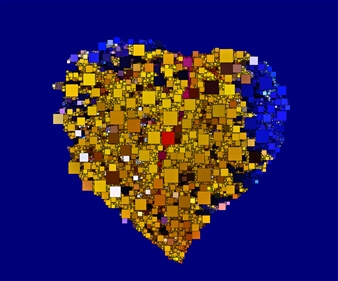 Howard Harris - Heart Digital Sublimation Print on Aluminum, Digital Art
