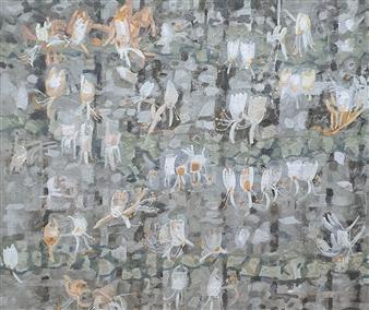 Soilart Jo-DoJoong - Honeysuckle Soil on Canvas, Paintings