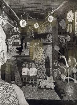 Sato - Shoe Shining Etching on Arnhem1618 Paper, Prints