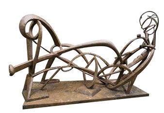 Attila Mata - Reclining Bronze, Sculpture