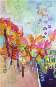Jenny Shaw - La La Land - 1 Mixed Media on Canvas, Mixed Media