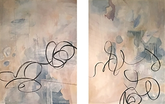 Maggie G. Moran - Ode 1&2 Oil on Canvas, Paintings