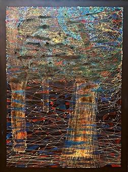 Ignatius - Three Trees. Ayahuasca in G Mayor Mixed Media on Canvas, Mixed Media