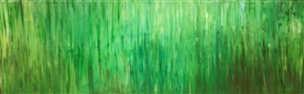 Gordana Tomic - Sound of Bamboo, diptych Oil on Linen, Paintings
