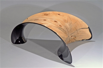 Iftah Geva - Stool Carbon Fiber and Wood, Sculpture