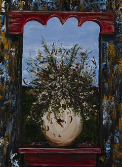 Anne E Chamness - Window to the World Oil on Canvas, Paintings