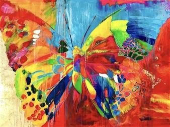 Grażyna Aneta Ochowiak - Mystery & Apparition, diptych Acrylic & Mixed Media on Canvas, Mixed Media