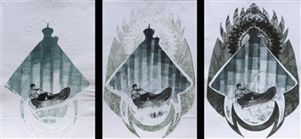 Juan Salazar - From the Series Ausencia 3 Collograph, Prints
