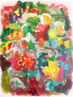Susan Marx - May Composition Acrylic on Canvas, Paintings