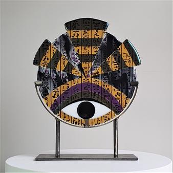 Anne Felicie Nickels - RA Large 'Hieroglyf' #9 Kiln Formed Glass, Sculpture