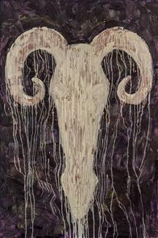 Aigerim Bektayeva - Arkhar Oil on Canvas, Paintings