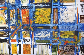 Di - Blues Music Acrylic & Oil on Canvas, Paintings