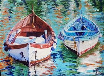 Antonio Lopez Vega - De la serie embarcadero 4 Oil on Canvas, Paintings