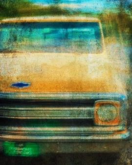 Evan William Plunkett - A Yellow Pickup Archival Pigment Print, Photography