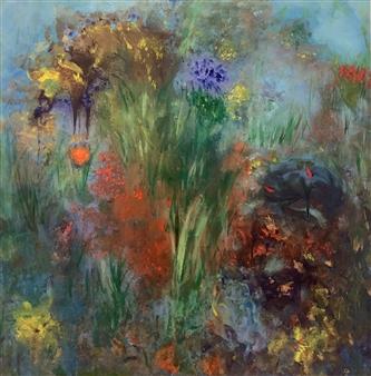 Jodi DeCrenza - Fluers De La Passion Acrylic on Canvas, Paintings