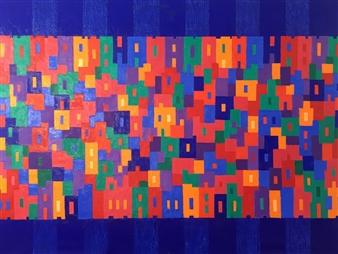 Mario España - East Boston Oil on Canvas, Paintings