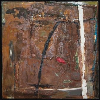 Ludwig Mannhalter - No. 14 Acrylic, Oil & Mixed Media on Canvas, Mixed Media
