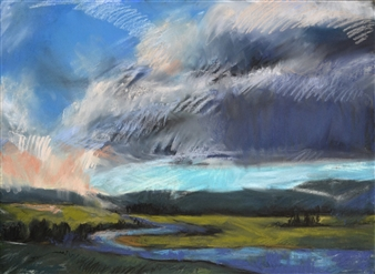 Rebecca Rath - The River Runs Long and Wide Soft Pastel on Fabiano Paper, Paintings
