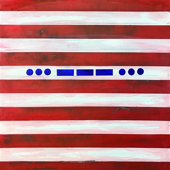 Arthur H. Gunther III - SOS, A Nation in Distress Acrylic on Wood Panel, Paintings