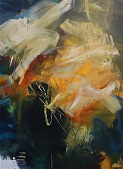 Abreesha Jones - Heart Of Acrylic, Spray Paint, Oil Pastel on Canvas, Mixed Media