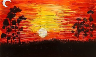 ArtDuRealisme - Sunset Acrylic on Canvas, Paintings