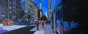 Josep Francés Anaya - Summer in NY Oil on Canvas, Paintings
