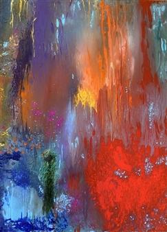 Jodi DeCrenza - Passion Acrylic & Oil on Canvas, Paintings