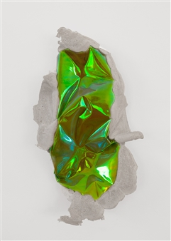 Mateusz von Motz - Prima Materia Energy Stone, Yellow Mixed Media, Sculpture