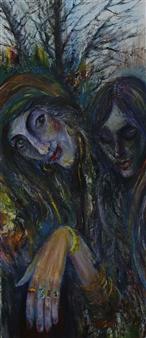 Oleg Kirnos - Autumn Fortune-telling Oil on Canvas, Paintings