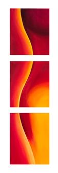 Kristina Arntz - Flames Oil on Canvas, Paintings