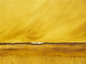 George Oommen - End of Summer 1 Acrylic on Canvas, Paintings