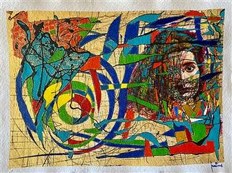 Ignatius - Loyola Acrylic on Paper, Paintings