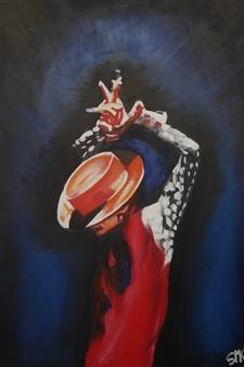Silvia Mónica Giammatteo - Bailaor Acrylic on Canvas, Paintings