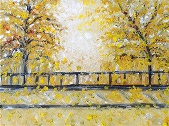 Karen Kanas - Autumn Acrylic on Canvas, Paintings