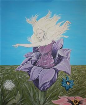 David Pallua - Bloom Acrylic on Canvas, Paintings